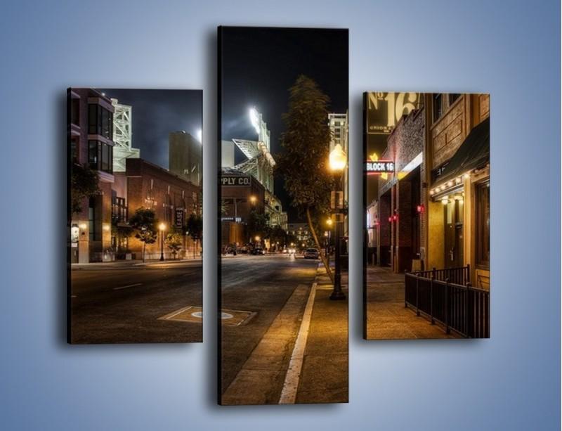 Obraz na płótnie – Ulica San Diego w Kaliforni – trzyczęściowy AM390W3