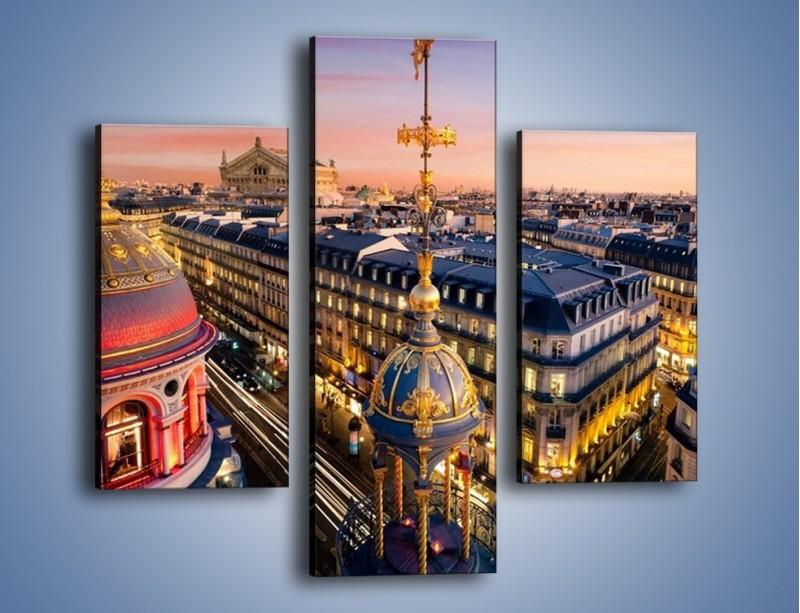 Obraz na płótnie – Paryska architektura – trzyczęściowy AM402W3
