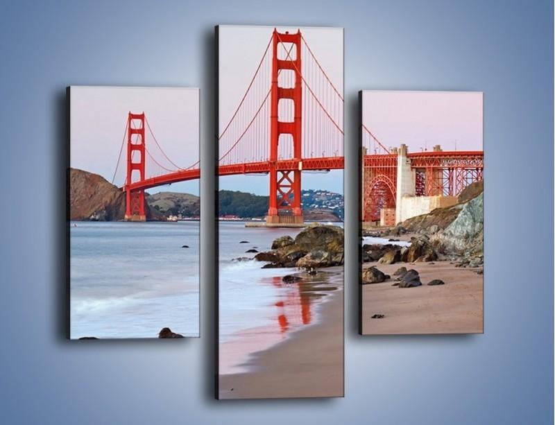 Obraz na płótnie – Most Golden Gate – trzyczęściowy AM406W3