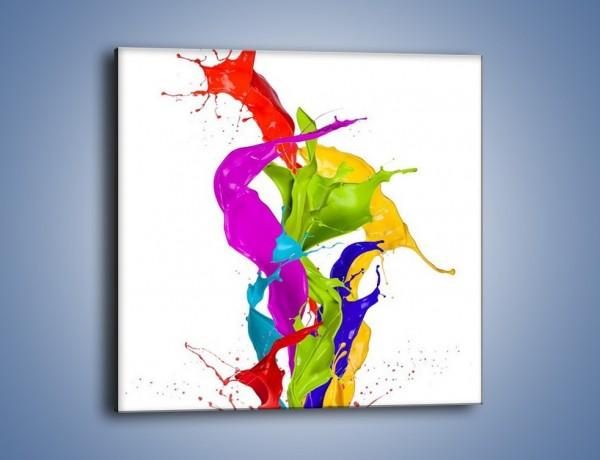 Obraz na płótnie – Wirujące barwy – jednoczęściowy kwadratowy GR420
