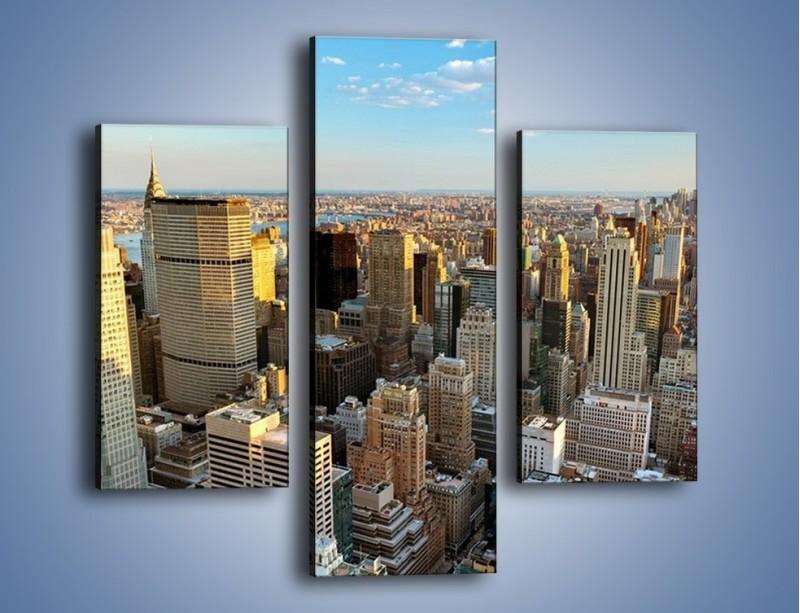 Obraz na płótnie – Manhattan w Nowym Yorku – trzyczęściowy AM412W3