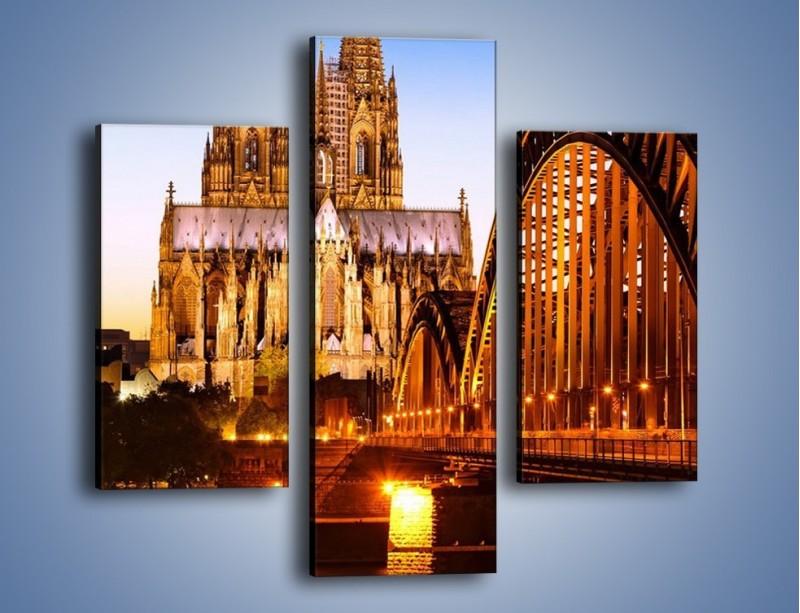 Obraz na płótnie – Katedra św. Piotra i NMP w Kolonii – trzyczęściowy AM413W3
