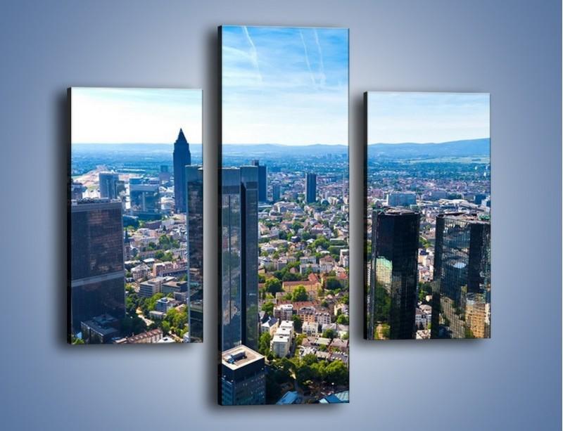 Obraz na płótnie – Panorama Frankfurtu – trzyczęściowy AM414W3