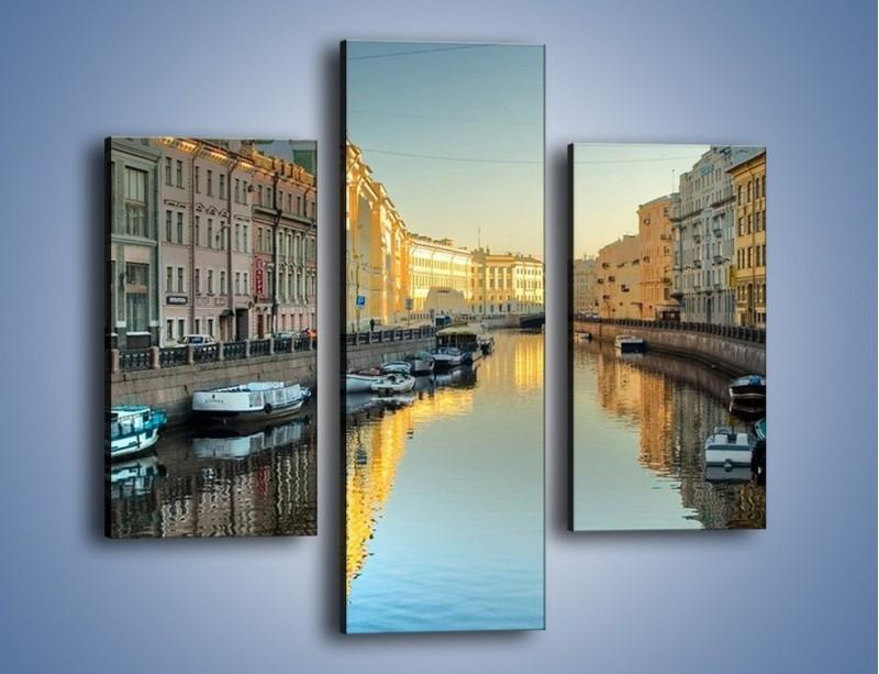 Obraz na płótnie – Kanał wodny w St. Petersburgu – trzyczęściowy AM422W3