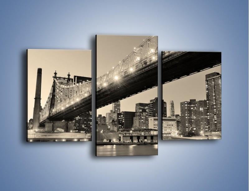 Obraz na płótnie – Most Qeensboro w Nowym Yorku – trzyczęściowy AM438W3