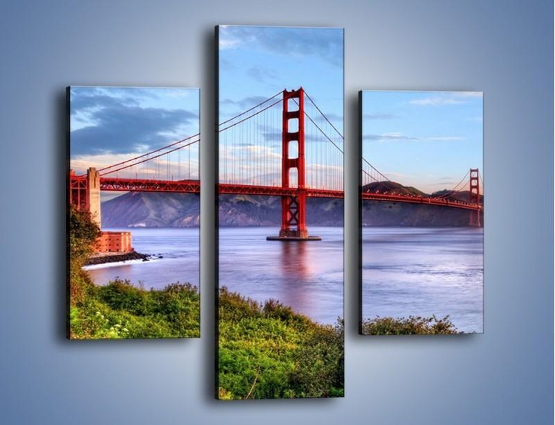Obraz na płótnie – Most Golden Gate w San Francisco – trzyczęściowy AM444W3