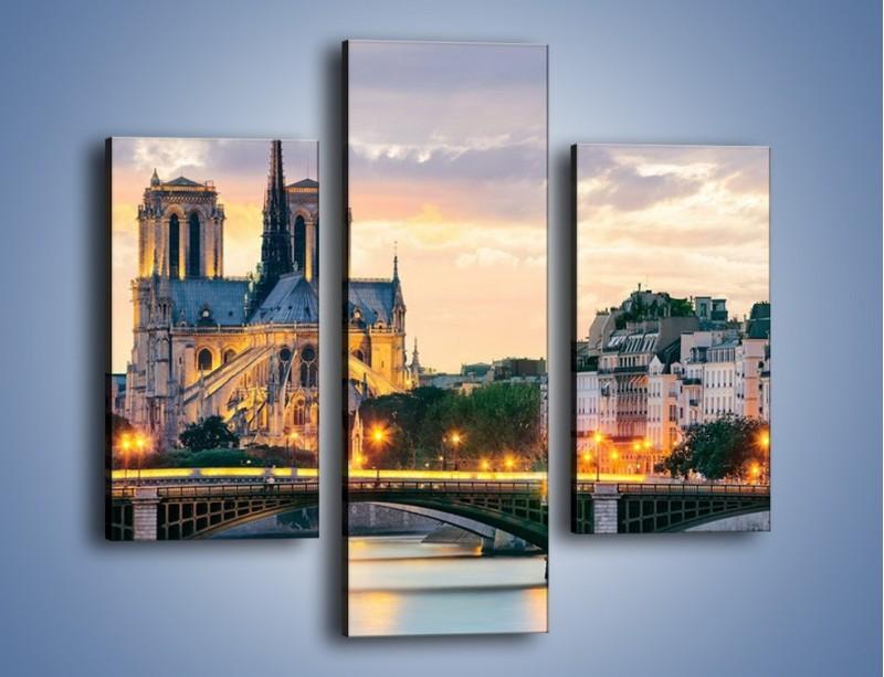 Obraz na płótnie – Katedra Notre Dame – trzyczęściowy AM454W3