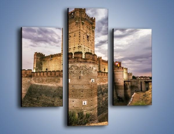 Obraz na płótnie – Zamek La Mota w Hiszpanii – trzyczęściowy AM457W3
