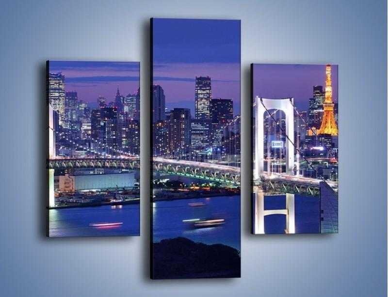 Obraz na płótnie – Tęczowy Most w Tokyo – trzyczęściowy AM460W3