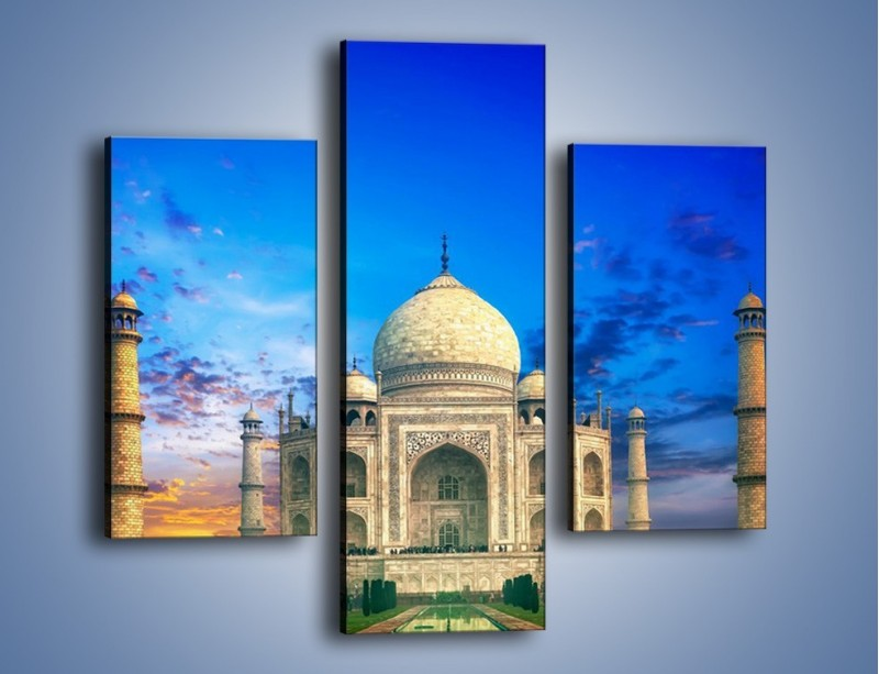 Obraz na płótnie – Tadź Mahal pod niebieskim niebem – trzyczęściowy AM466W3