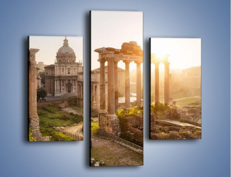 Obraz na płótnie – Rzymskie ruiny o zachodzie słońca – trzyczęściowy AM480W3