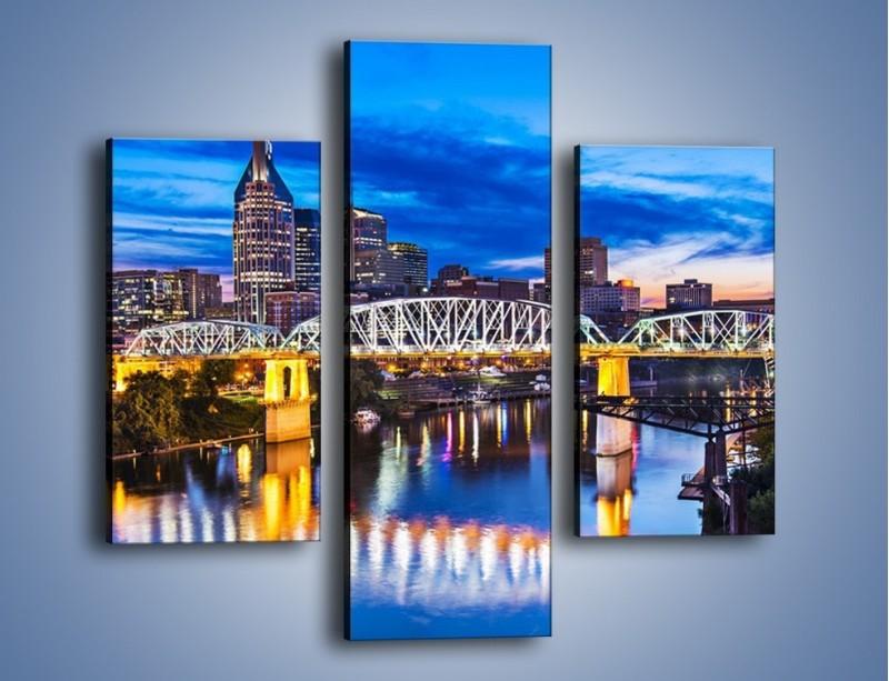 Obraz na płótnie – Most Shelby Street w Nashville – trzyczęściowy AM489W3