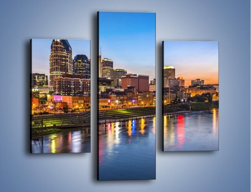 Obraz na płótnie – Nashville nad rzeką Cumberland – trzyczęściowy AM491W3