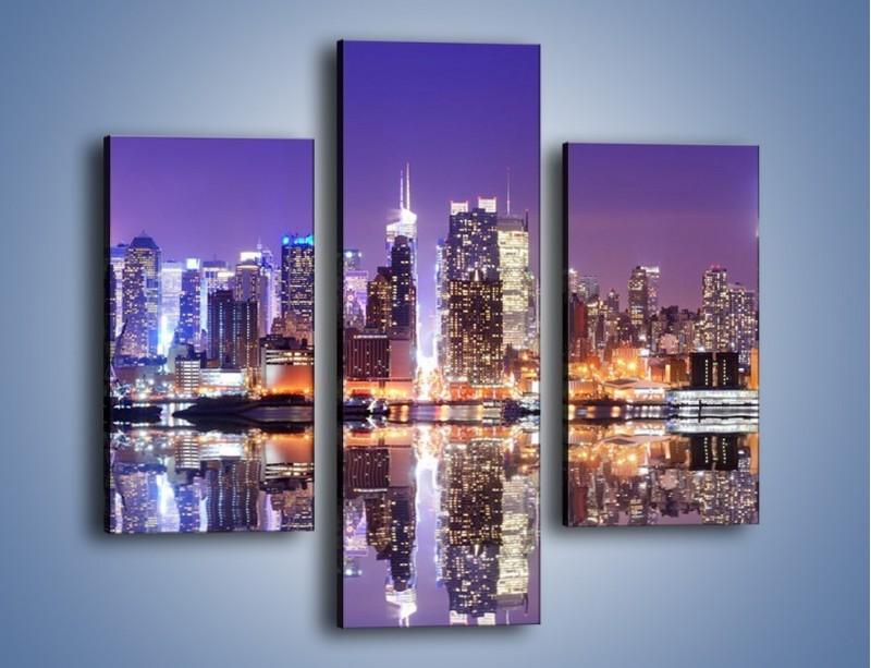 Obraz na płótnie – Panorama Midtown Manhattan – trzyczęściowy AM492W3
