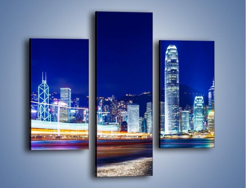 Obraz na płótnie – Panorama Hong Kongu – trzyczęściowy AM499W3