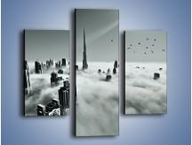 Obraz na płótnie – Centrum Dubaju we mgle – trzyczęściowy AM502W3