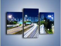 Obraz na płótnie – Autostrada prowadząca do Hong Kongu – trzyczęściowy AM504W3