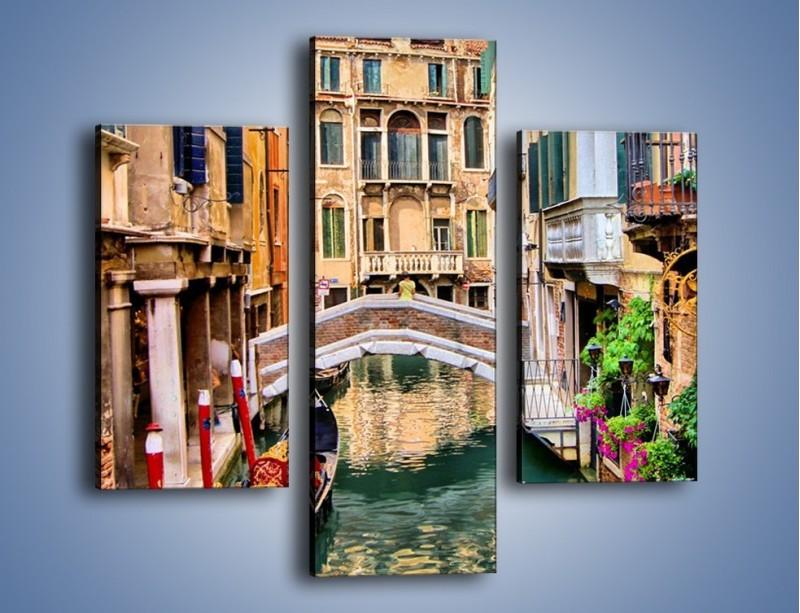 Obraz na płótnie – Wenecka wodna uliczka – trzyczęściowy AM508W3