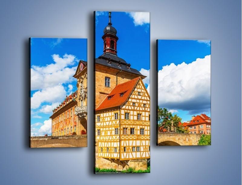 Obraz na płótnie – Ratusz w mieście Bamberg – trzyczęściowy AM513W3