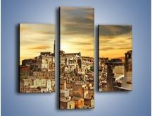Obraz na płótnie – Matera – miasto wykute w skale – trzyczęściowy AM517W3
