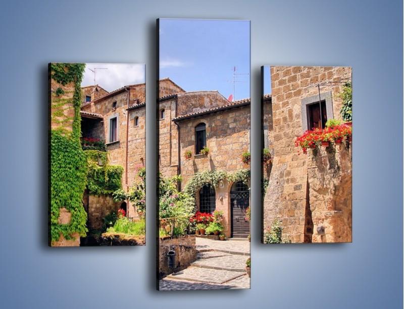 Obraz na płótnie – Romantyczna uliczka we Włoszech – trzyczęściowy AM533W3