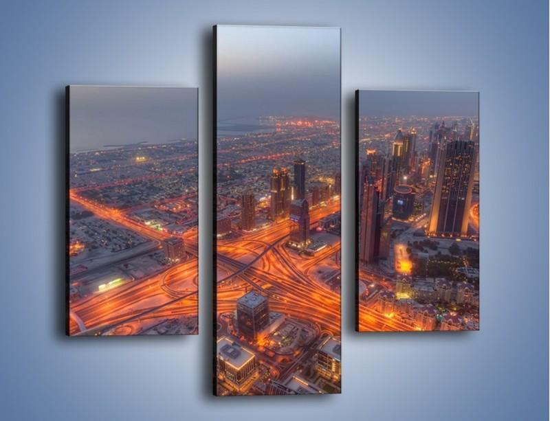 Obraz na płótnie – Panorama Dubaju o poranku – trzyczęściowy AM538W3