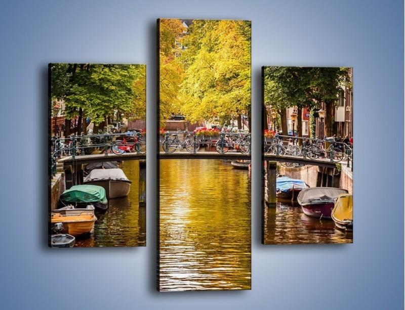 Obraz na płótnie – Most nad amsterdamskim kanałem – trzyczęściowy AM552W3