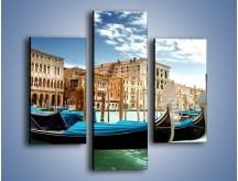 Obraz na płótnie – Weneckie gondole w Canal Grande – trzyczęściowy AM571W3