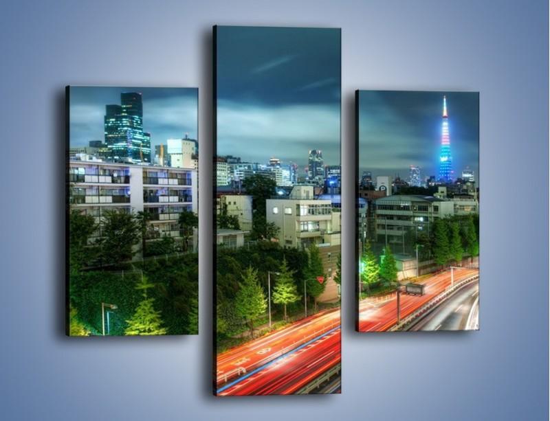 Obraz na płótnie – Miasto Roppongi w Japonii – trzyczęściowy AM593W3