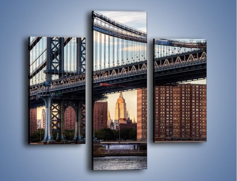 Obraz na płótnie – Manhattan Bridge – trzyczęściowy AM607W3