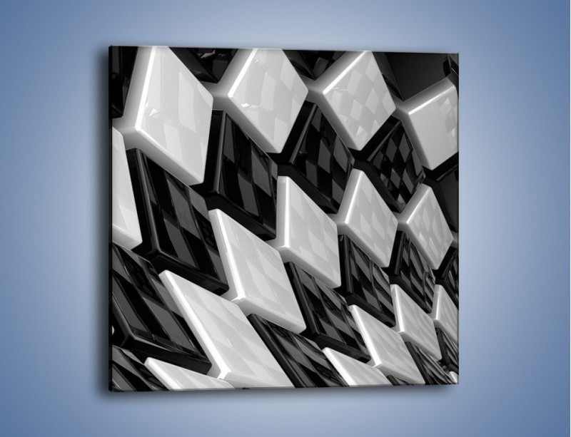 Obraz na płótnie – Czarne czy białe – jednoczęściowy kwadratowy GR425