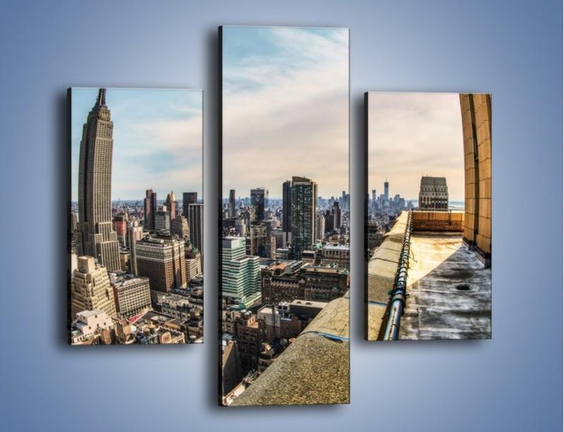 Obraz na płótnie – Empire State Building na Manhattanie – trzyczęściowy AM610W3