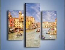 Obraz na płótnie – Canal Grande w Wenecji o poranku – trzyczęściowy AM617W3