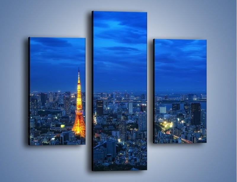 Obraz na płótnie – Tokyo Tower w Japonii – trzyczęściowy AM621W3