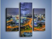 Obraz na płótnie – Burza nad Bangkokiem – trzyczęściowy AM622W3