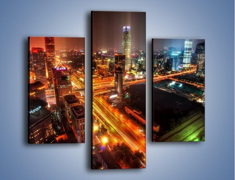 Obraz na płótnie – Niesamowite kolory Pekinu – trzyczęściowy AM632W3