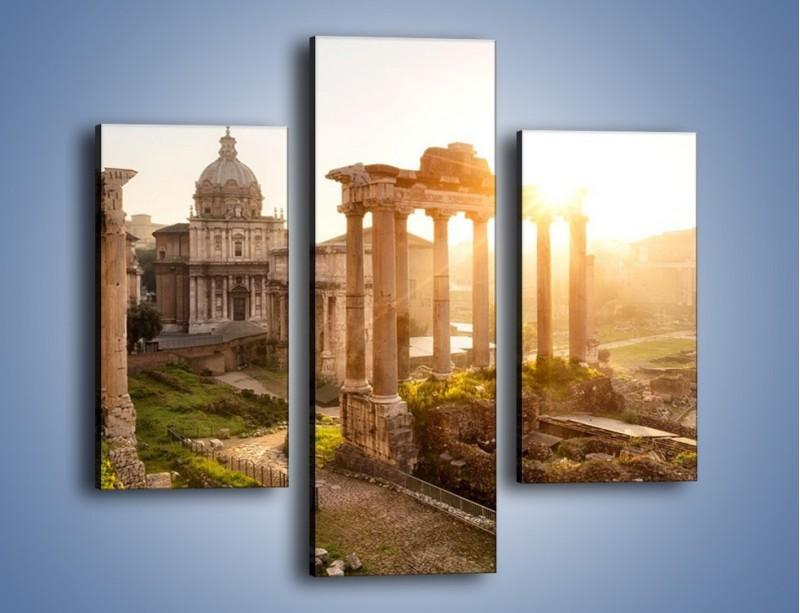 Obraz na płótnie – Starożytna architektura Rzymu – trzyczęściowy AM638W3