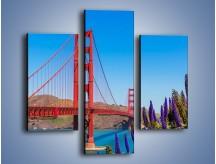 Obraz na płótnie – Golden Gate pod błękitnym niebem – trzyczęściowy AM644W3