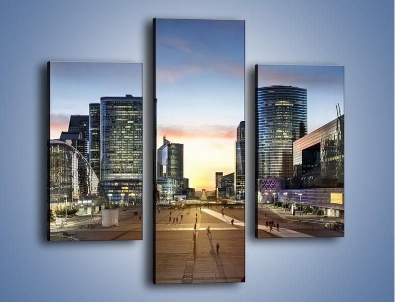 Obraz na płótnie – Quartier La Défense w Paryżu – trzyczęściowy AM647W3