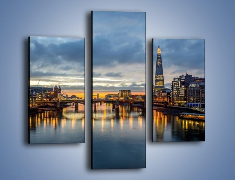 Obraz na płótnie – Millennium Bridge w Londynie – trzyczęściowy AM651W3