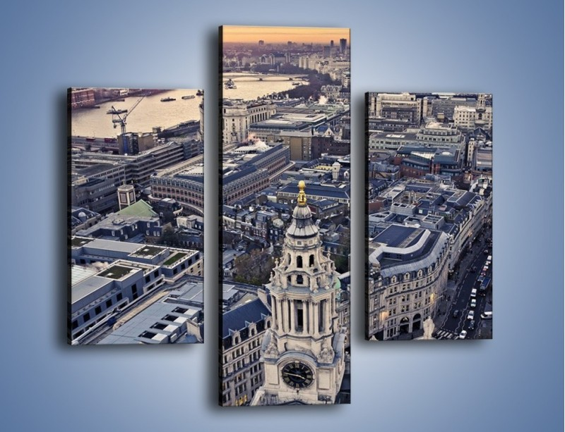 Obraz na płótnie – Widok na Londyn z Katedry św. Pawła – trzyczęściowy AM652W3