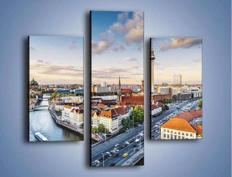 Obraz na płótnie – Panorama Berlina – trzyczęściowy AM673W3