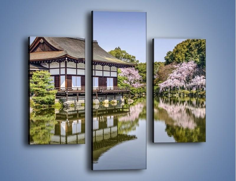 Obraz na płótnie – Świątynia Heian Shrine w Kyoto – trzyczęściowy AM677W3