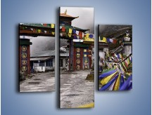 Obraz na płótnie – Brama do miasta Tawang w Tybecie – trzyczęściowy AM689W3