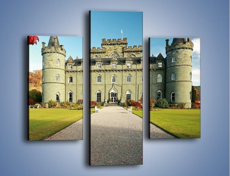 Obraz na płótnie – Zamek Inveraray w Szkocji – trzyczęściowy AM691W3