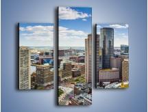 Obraz na płótnie – Boston w stanie Massachusetts – trzyczęściowy AM700W3