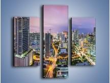 Obraz na płótnie – Centrum Miami – trzyczęściowy AM702W3