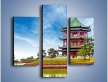 Obraz na płótnie – Chiński ogród w Singapurze – trzyczęściowy AM715W3