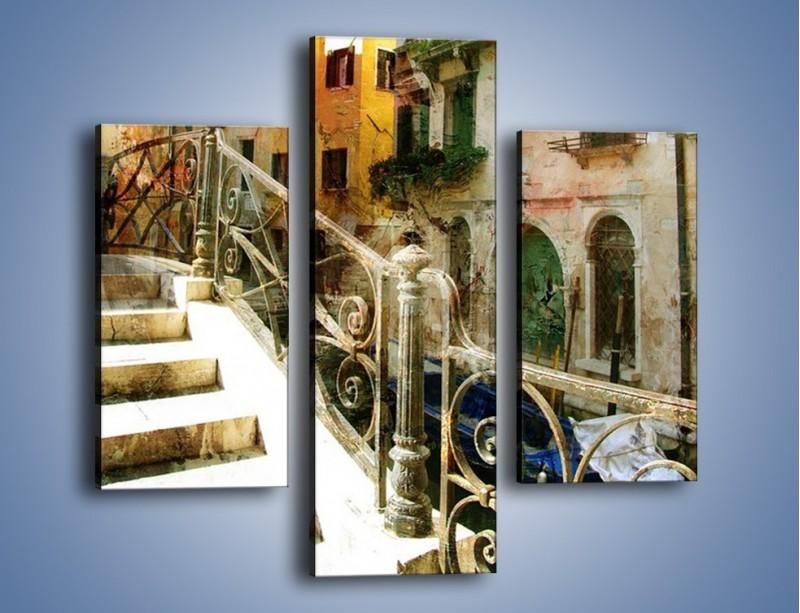 Obraz na płótnie – Wenecka architektura w stylu vintage – trzyczęściowy AM718W3