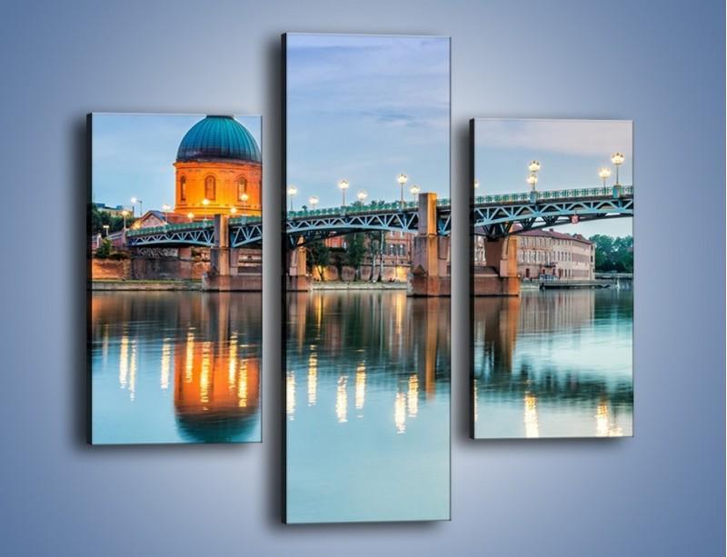 Obraz na płótnie – Most Saint-Pierre w Tuluzie – trzyczęściowy AM721W3